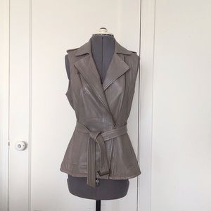 Banana Republic genuine leather moto vest